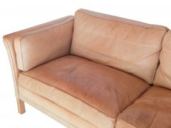 Caramel Leather Sofa - 740286