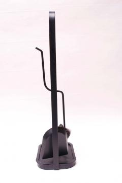 Carl Aub ck Austrian Modernist Fire Tool Set in Maple and Iron - 1701327