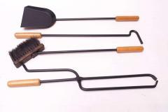 Carl Aub ck Austrian Modernist Fire Tool Set in Maple and Iron - 1701331