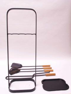 Carl Aub ck Austrian Modernist Fire Tool Set in Maple and Iron - 1701332