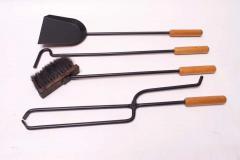 Carl Aub ck Austrian Modernist Fire Tool Set in Maple and Iron - 1701333