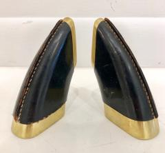 Carl Aub ck Vintage Pair of Carl Aub ck Bronze and Leather Bookends - 1112207