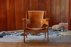 Carl Axel Acking Carl Axel Acking Trienna Chair in Patinated Brown Leather circa 1957 - 1134741