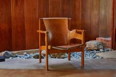 Carl Axel Acking Carl Axel Acking Trienna Chair in Patinated Brown Leather circa 1957 - 1134747