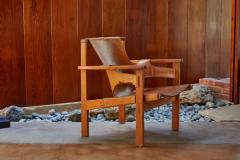 Carl Axel Acking Carl Axel Acking Trienna Chair in Patinated Brown Leather circa 1957 - 1134748