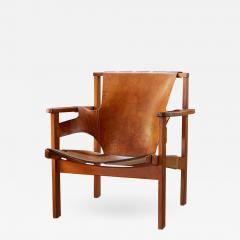 Carl Axel Acking Carl Axel Acking Trienna Chair in Patinated Brown Leather circa 1957 - 1135200