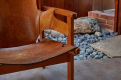 Carl Axel Acking Carl Axel Acking Trienna Chair in Patinated Brown Leather circa 1957 - 1307974