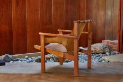 Carl Axel Acking Carl Axel Acking Trienna Chair in Patinated Brown Leather circa 1957 - 1307975