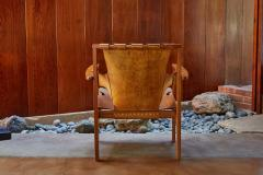 Carl Axel Acking Carl Axel Acking Trienna Chair in Patinated Brown Leather circa 1957 - 1307977