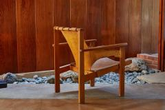 Carl Axel Acking Carl Axel Acking Trienna Chair in Patinated Brown Leather circa 1957 - 1307979