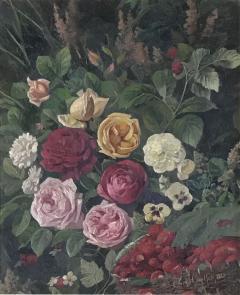 Carl Carlson 1853 1917 Danish Floral Still Life - 1705487