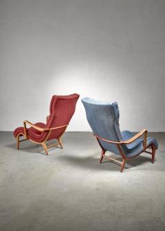 Carl Cederholm Carl Cederholm pair of easy chairs Sweden 1940s - 2052933