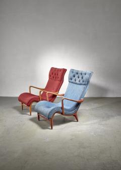 Carl Cederholm Carl Cederholm pair of easy chairs Sweden 1940s - 2052934