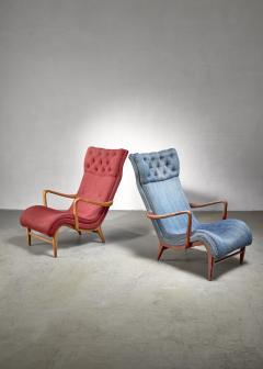 Carl Cederholm Carl Cederholm pair of easy chairs Sweden 1940s - 2052935