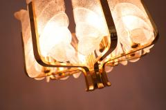 Carl Fagerlund Brass and Murano Glass Chandelier 1960s - 2025515