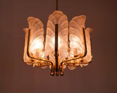 Carl Fagerlund Brass and Murano Glass Chandelier 1960s - 2025516
