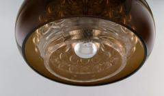 Carl Fagerlund Bubble ceiling lamp in smoke colored and clear art glass - 1339344