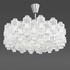 Carl Fagerlund Glass Chandelier Carl Fagerlund for Orrefors Sweden c 1950s - 31922