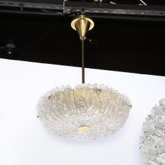 Carl Fagerlund Mid Century Murano Glass Brass Chandelier by Carl Fagerlund for Orrefors - 2143289