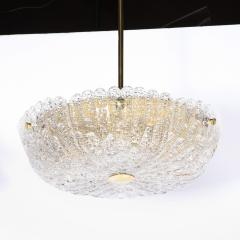 Carl Fagerlund Mid Century Murano Glass Brass Chandelier by Carl Fagerlund for Orrefors - 2143297