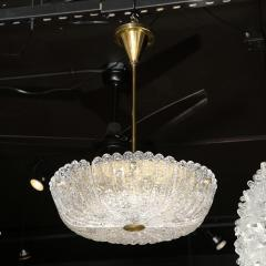 Carl Fagerlund Mid Century Murano Glass Brass Chandelier by Carl Fagerlund for Orrefors - 2143301