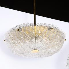 Carl Fagerlund Mid Century Murano Glass Brass Chandelier by Carl Fagerlund for Orrefors - 2143310