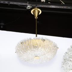 Carl Fagerlund Mid Century Murano Glass Brass Chandelier by Carl Fagerlund for Orrefors - 2143332