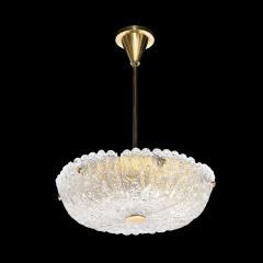 Carl Fagerlund Mid Century Murano Glass Brass Chandelier by Carl Fagerlund for Orrefors - 2143335