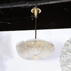 Carl Fagerlund Mid Century Murano Glass Brass Chandelier by Carl Fagerlund for Orrefors - 2143342