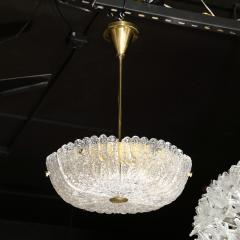 Carl Fagerlund Mid Century Murano Glass Brass Chandelier by Carl Fagerlund for Orrefors - 2143371