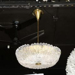 Carl Fagerlund Mid Century Murano Glass Brass Chandelier by Carl Fagerlund for Orrefors - 2143379