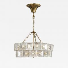 Carl Fagerlund Mid Century Pendant Light By Carl Fagerlund For Orrefors Sweden Circa 1960s - 777232