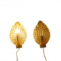 Carl Fagerlund Pair Wall sconces by Orrefors 1930s Carl Fagerlund - 1774297