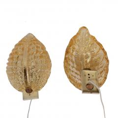 Carl Fagerlund Pair Wall sconces by Orrefors 1930s Carl Fagerlund - 1774298