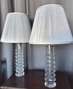 Carl Fagerlund Pair of Lamps by Carl Fagerlund for Orrefors - 1332133
