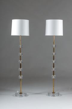 Carl Fagerlund Pair of Rare Floor Lamps by Carl Fagerlund for Orrefors - 900808