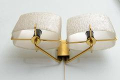 Carl Fagerlund Pair of Swedish Modern Two Light Wall Sconces Carl Fagerlund for Orrefors - 358269