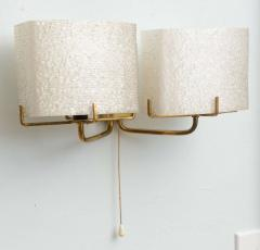 Carl Fagerlund Pair of Swedish Modern Two Light Wall Sconces Carl Fagerlund for Orrefors - 358271