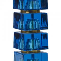 Carl Fagerlund Table lamp in turquoise glass by Carl Fagerlund - 1047316