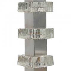 Carl Fagerlund Table lamp with steel and glass assemblage by Carl Fagerlund - 996256