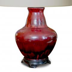 Carl Halier Exquisite table lamp in oxblood glaze with bronze mounts by Carl Halier - 736689