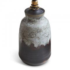 Carl Halier Extraordinary Table Lamp in Contrasting Glazes by Carl Halier - 773728