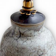 Carl Halier Extraordinary Table Lamp in Contrasting Glazes by Carl Halier - 773730