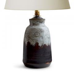 Carl Halier Extraordinary Table Lamp in Contrasting Glazes by Carl Halier - 773731