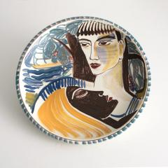 Carl Harry St lhane CARL HARRY ST LHANE R RSTRAND 1943 HAND PAINTED BOWL WITH TWO FACES - 1557398