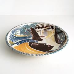 Carl Harry St lhane CARL HARRY ST LHANE R RSTRAND 1943 HAND PAINTED BOWL WITH TWO FACES - 1557399