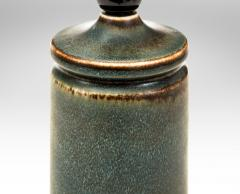Carl Harry St lhane Carl Harry St lhane Swedish Variegated Blue Glazed Stoneware Studio Lamp - 1084413