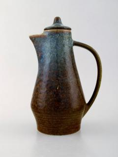 Carl Harry St lhane Jug with lid in glazed stoneware - 1370761