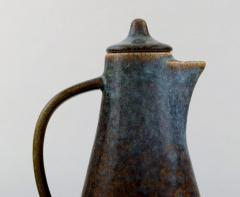Carl Harry St lhane Jug with lid in glazed stoneware - 1370762