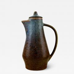 Carl Harry St lhane Jug with lid in glazed stoneware - 1373958